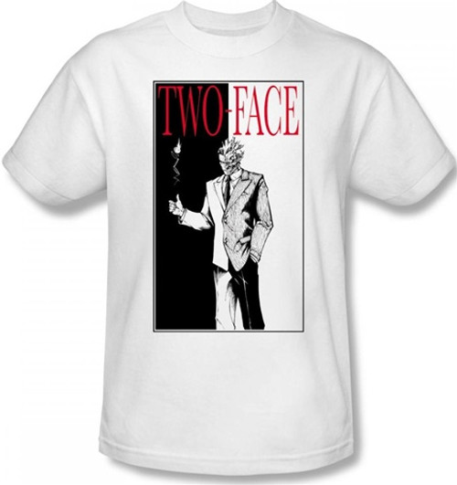 Image Closeup for Two Face T-Shirt