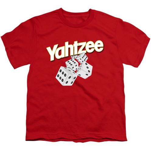 Image for Yahtzee Youth T-Shirt - Tumbling Dice