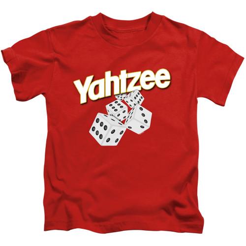 Image for Yahtzee Kids T-Shirt - Tumbling Dice