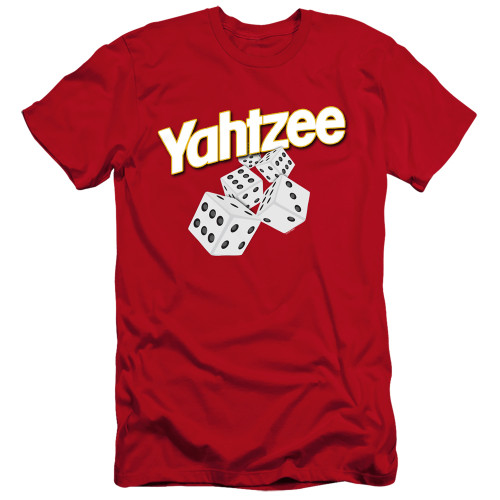 Image for Yahtzee Premium Canvas Premium Shirt - Tumbling Dice