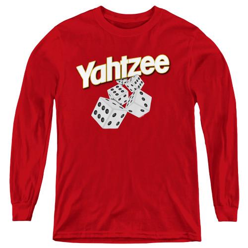 Image for Yahtzee Youth Long Sleeve T-Shirt - Tumbling Dice