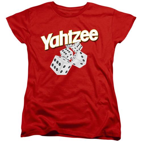Image for Yahtzee Woman's T-Shirt - Tumbling Dice