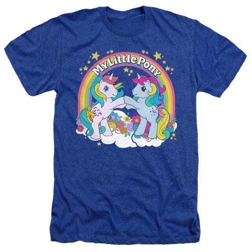 Image for My Little Pony Heather T-Shirt - Retro Unicorn Fist Bump