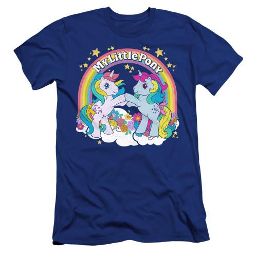 Image for My Little Pony Premium Canvas Premium Shirt - Retro Unicorn Fist Bump