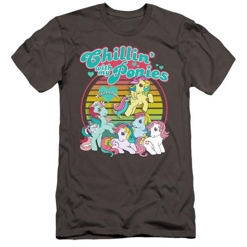 Image for My Little Pony Premium Canvas Premium Shirt - Retro Chillin' With My Ponies