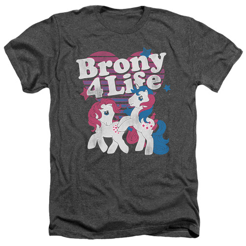 Image for My Little Pony Heather T-Shirt - Retro Brony for Life