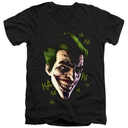 Image for Batman T-Shirt - V Neck - Joker Grim