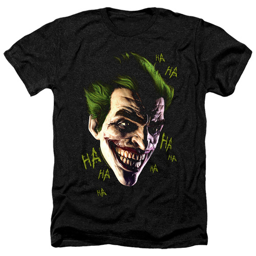 Image for Batman Heather T-Shirt - Joker Grim