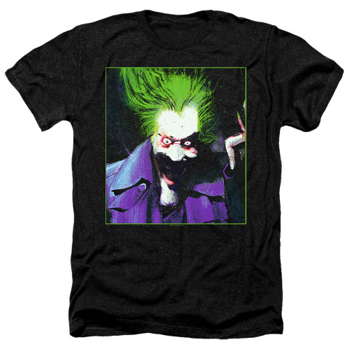 Image for Batman Heather T-Shirt - Joker Arkham Asylum