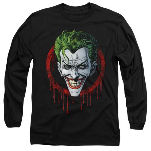 Image for Batman Long Sleeve T-Shirt - Joker Drip