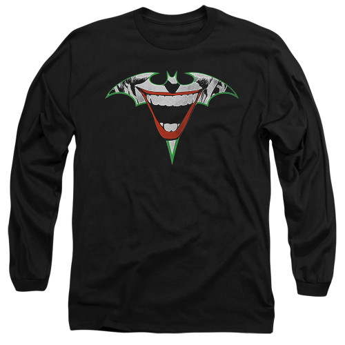 Image for Batman Long Sleeve T-Shirt - Joker Bat Logo