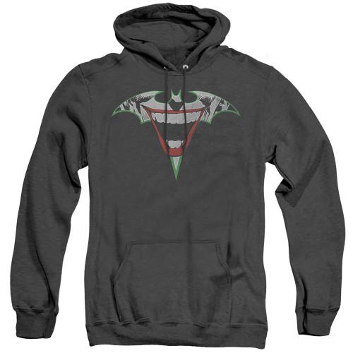 Image for Batman Heather Hoodie - Joker Bat Logo
