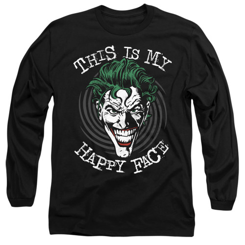 Image for Batman Long Sleeve T-Shirt - Joker Maniacal Spiral