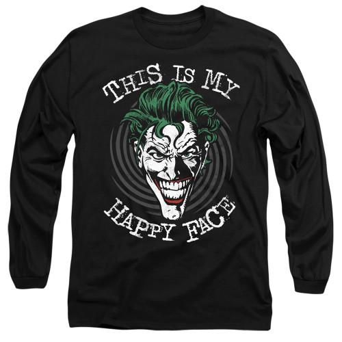 Image for Batman Long Sleeve T-Shirt - Joker Maniacal Spiral