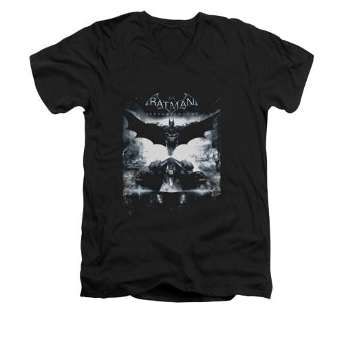 Image for Batman Arkham Knight V-Neck T-Shirt Forward Force
