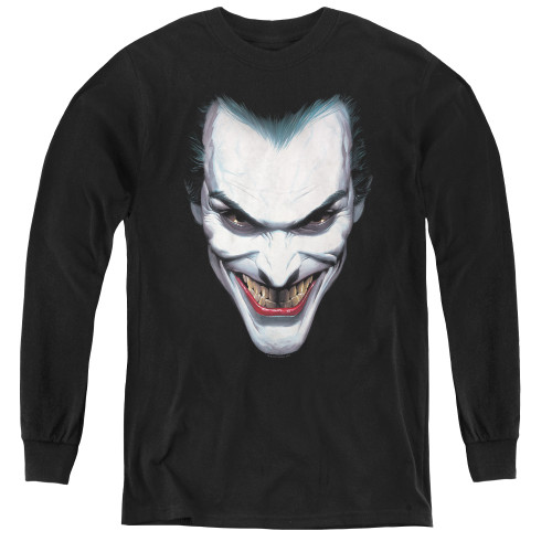 Image for Batman Youth Long Sleeve T-Shirt - Joker Portrait