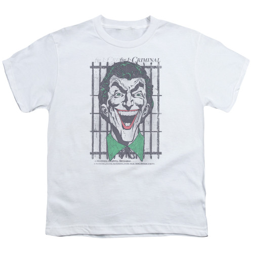 Image for Batman Youth T-Shirt - Joker Criminal