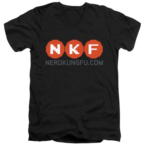 Image for Nerd Kung Fu V Neck T-Shirt - Logo