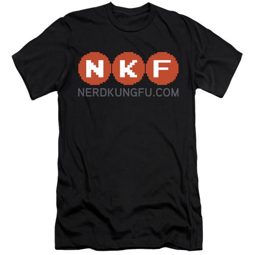 Image for Nerd Kung Fu Premium Canvas Premium Shirt - Logo