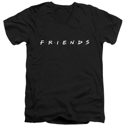 Image for Friends V Neck T-Shirt - Show Logo