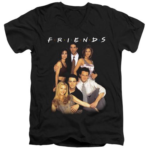 Image for Friends V Neck T-Shirt - Stand Together