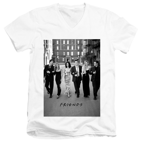 Image for Friends V Neck T-Shirt - Walk the Streets