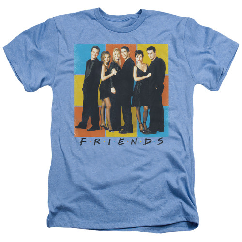 Image for Friends Heather T-Shirt - Color Block of Friends