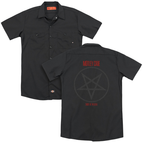 Image for Motley Crue Dickies Work Shirt - Shout at the Devil