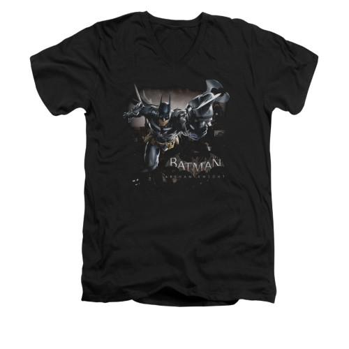 Image for Batman Arkham Knight V-Neck T-Shirt Grapple