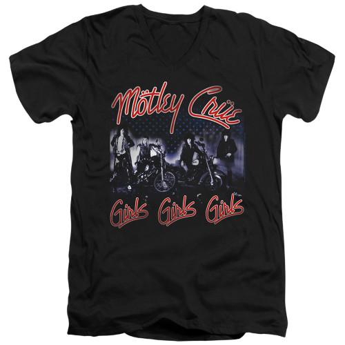 Image for Motley Crue V-Neck T-Shirt Girls