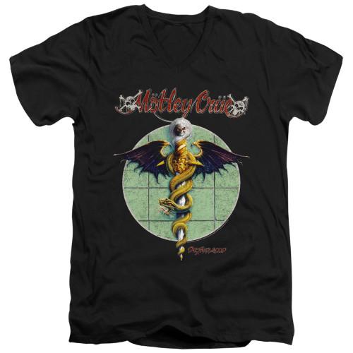 Image for Motley Crue V-Neck T-Shirt Dr. Feelgood