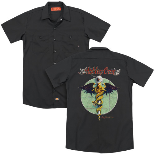 Image for Motley Crue Dickies Work Shirt - Dr. Feelgood