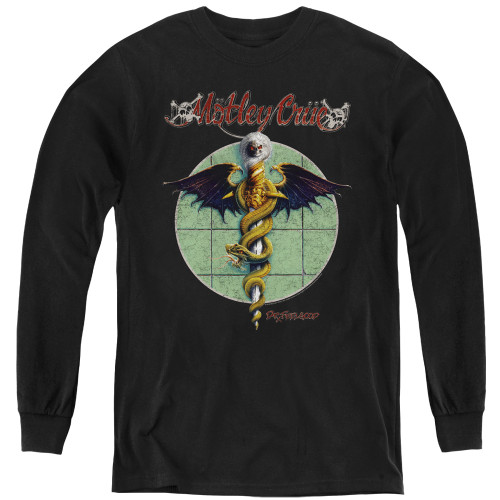 Image for Motley Crue Youth Long Sleeve T-Shirt - Dr. Feelgood