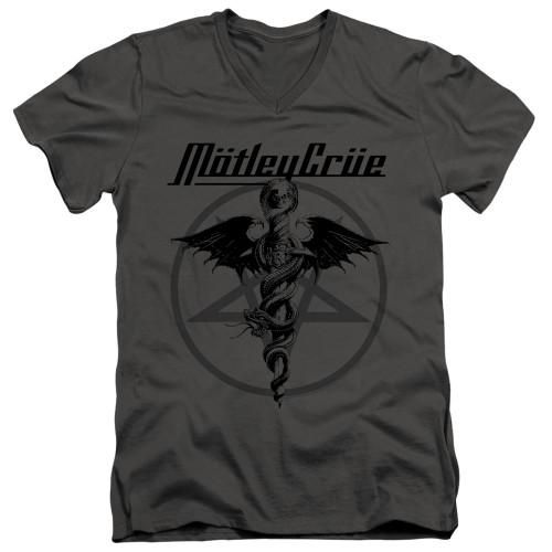 Image for Motley Crue V-Neck T-Shirt Dr. Devil