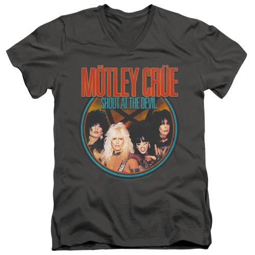 Image for Motley Crue V-Neck T-Shirt Crue Shout