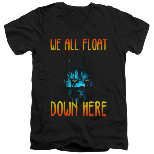 Image for It V Neck T-Shirt - We All Float Down Here