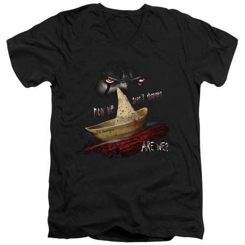 Image for It V Neck T-Shirt - Now We Aren't Strangers