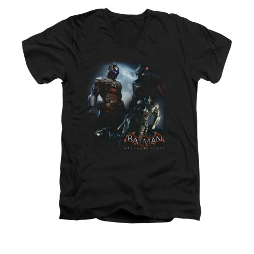 Image for Batman Arkham Knight V-Neck T-Shirt Face Off