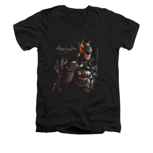 Image for Batman Arkham Knight V-Neck T-Shirt Dark Knight