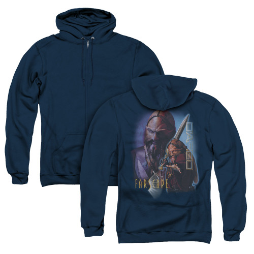 Image for Farscape Zip Up Back Print Hoodie - D'Argo