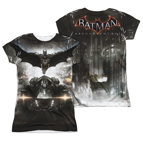 Image Closeup for Batman Arkham Knight Girls Sublimated T-Shirt - Poster