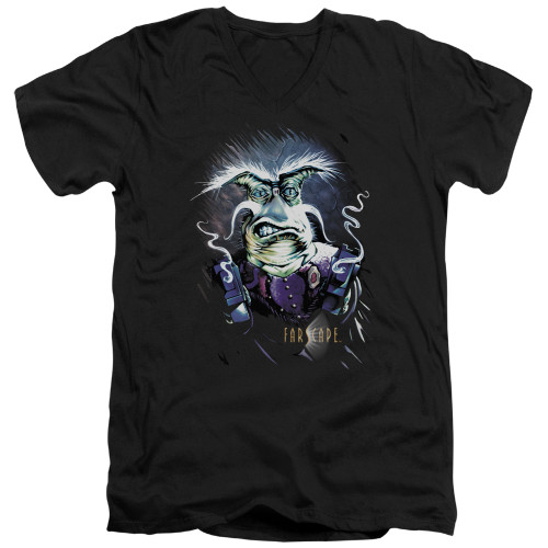 Image for Farscape V Neck T-Shirt - Gel Smoking Guns
