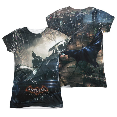 Image Closeup for Batman Arkham Knight Girls Sublimated T-Shirt - Into the Night