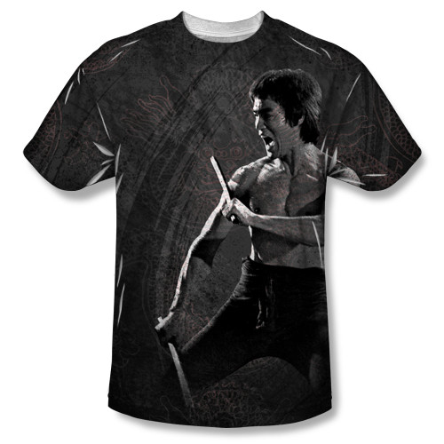 Image for Bruce Lee Sublimated T-Shirt - Dragon Print 100% Polyester