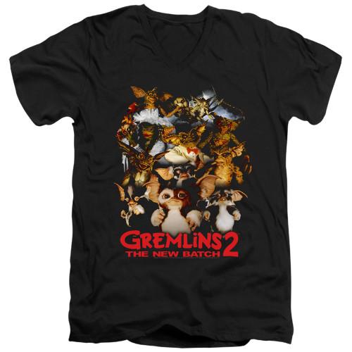 Image for Gremlins V Neck T-Shirt - Gremlins 2 Goon Crew