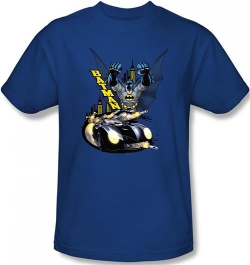Image Closeup for Batman T-Shirt - By Air and By Land