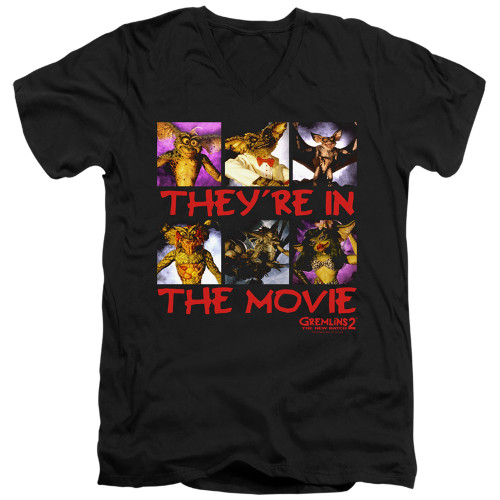 Image for Gremlins V Neck T-Shirt - Gremlins 2 In the Movie