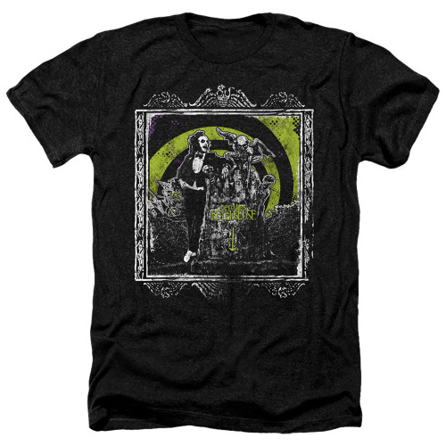Image for Beetlejuice Heather T-Shirt - Here Lies