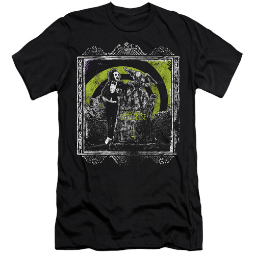 Image for Beetlejuice Premium Canvas Premium Shirt - Here Lies