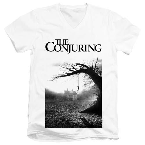 Image for The Conjuring V Neck T-Shirt - Monotone Poster